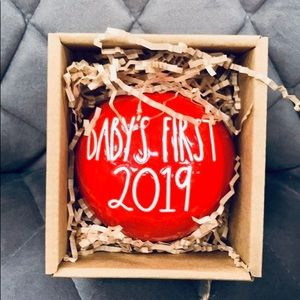 "RAE DUNN ""Baby's First 2019"" Red Ornament"